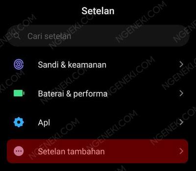 Setelan Tambahan di HP Xiaomi