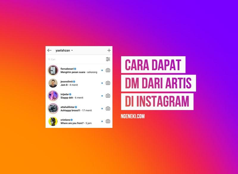 Cara Mendapatkan DM dari Artis di Instagram