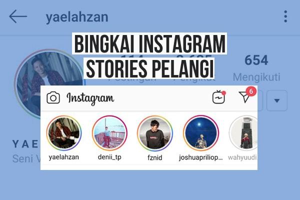 Cara Membuat Bingkai Story Instagram Berwarna Pelangi-min-min
