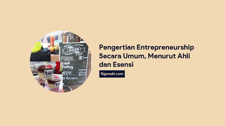Pengertian Entrepreneurship