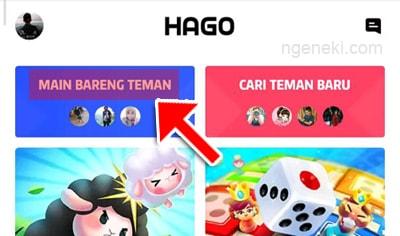 Tampilan utama HAGO