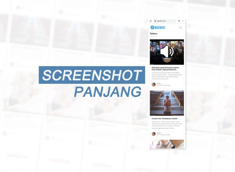 Cara Screenshot Panjang di Android