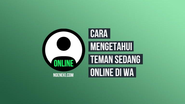 Cara Melihat Teman yang Online di WhatsApp