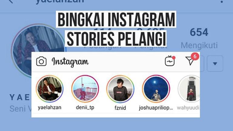 Cara Membuat Lingkaran Story Instagram Warna Warni