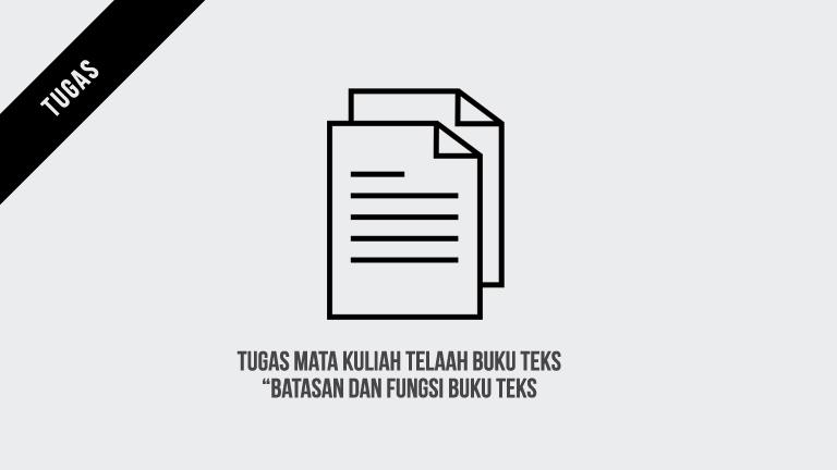 Tugas Mata Kuliah Telaah Buku Teks